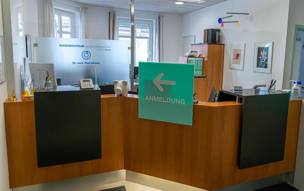 Anmeldung der Praxis in der Wilhelmstrasse 25 | Ihr Augenarzt in Buchen
